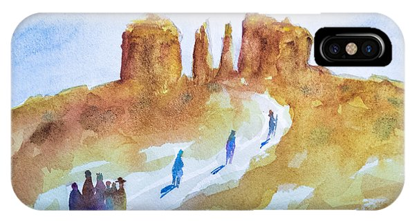 Seekers At Cathedral Rock IPhone Case