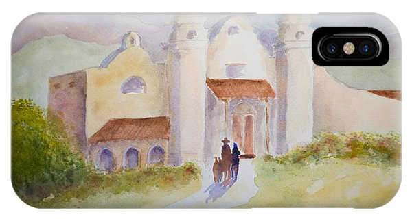 Seekers At The Mission IPhone Case