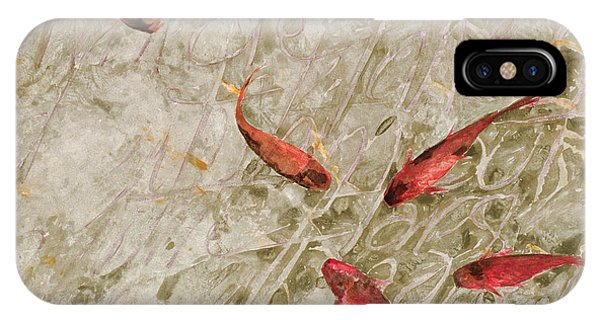 Koi iPhone Case - Sei Pesci Rossi   by Guido Borelli