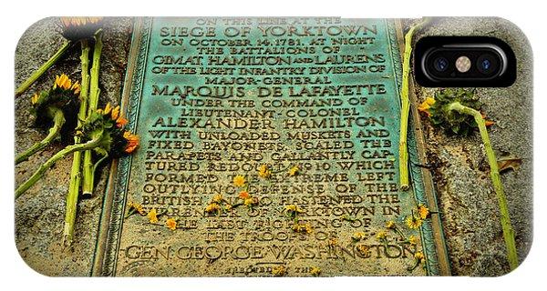 Yorktown iPhone Case - Seige Of Yorktown Memorial by Stephen Stookey
