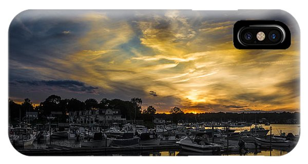 Selective Color Sunset - Mystic River IPhone Case