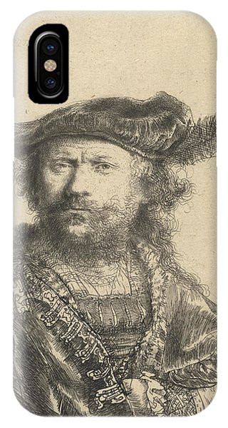 Baroque iPhone Case - Self Portrait In A Velvet Cap With Plume by Rembrandt