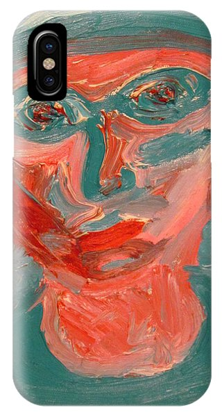 Self Portrait In Turquoise And Rose IPhone Case