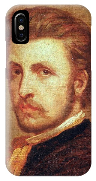Moustache iPhone Case - Self Portrait Oil On Canvas by Thomas Couture