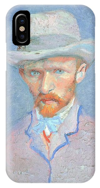 Van Gogh Museum iPhone Case - Self-portrait With Gray Felt Hat by Vincent van Gogh