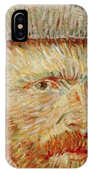 20th Century Man iPhone Case - Self-portrait With Hat by Vincent van Gogh