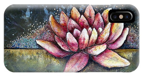 Modern iPhone Case - Self Portrait With Lotus by Shadia Derbyshire