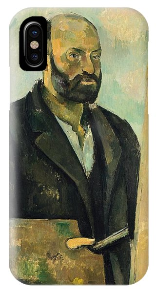 Deep Thought iPhone Case - Self Portrait With Palette by Paul Cezanne