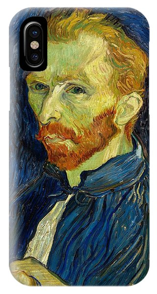IPhone Case featuring the painting Self Portrait With Palette by Vincent Van Gogh
