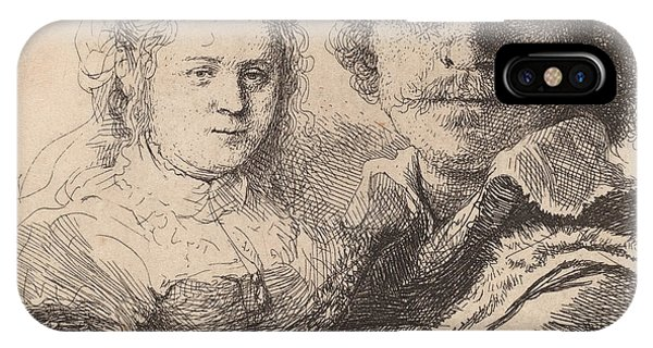 Baroque iPhone Case - Self Portrait With Saskia by Rembrandt