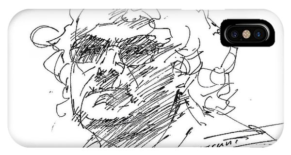 Sketch iPhone Case - Selfportrait  by Ylli Haruni