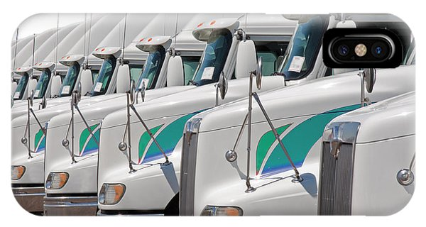 Semi Truck Fleet IPhone Case