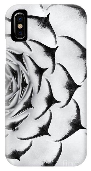 Succulent iPhone Case - Sempervivum Pattern Monochrome by Tim Gainey