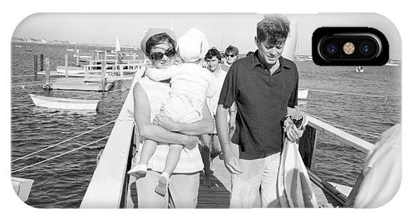 Senator John F. Kennedy And Jacqueline Kennedy At Hyannis Port Marina IPhone Case