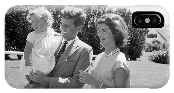 Senator John F. Kennedy With Jacqueline And Caroline IPhone Case