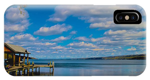 IPhone Case featuring the photograph Seneca Lake At Glenora Point by William Norton
