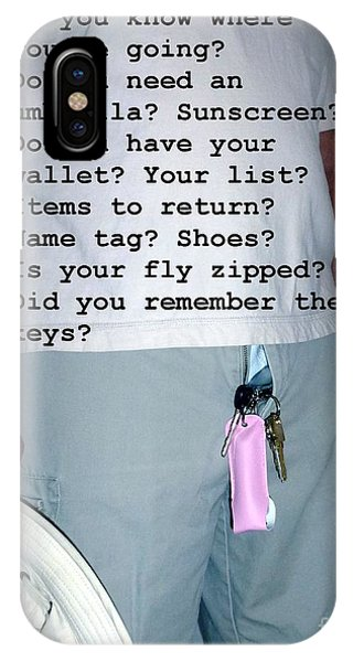 Assisted Living iPhone Case - Senior Check List  by Barbie Corbett-Newmin