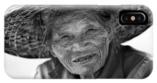 Senior Vendor Thai Woman IPhone Case