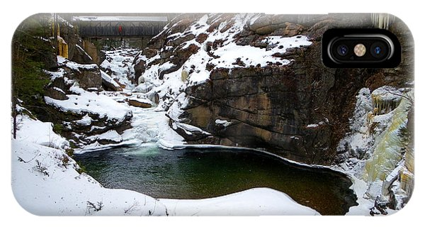 Sentinel Pine Bridge In Winter IPhone Case