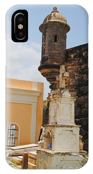 Sentinel Tower Over Graves IPhone Case