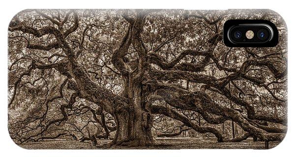 Sepia Angel Oak IPhone Case