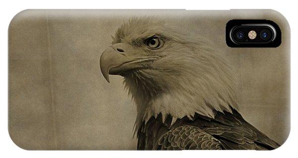 Sepia Bald Eagle Portrait IPhone Case