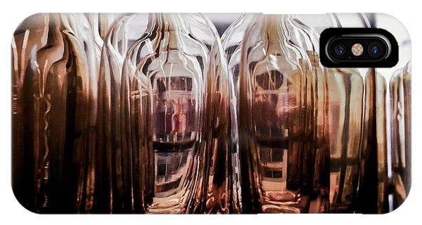 Sepia Bottles IPhone Case