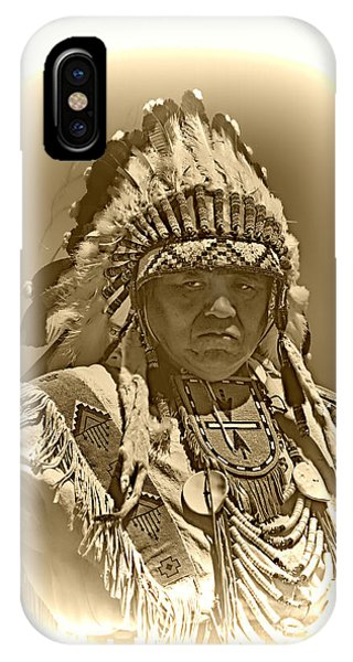 Sepia Chief Phone Case by Scarlett Images Photography
