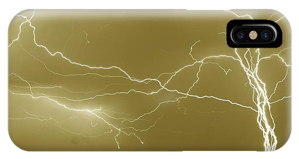 Sepia Converging Lightning IPhone Case