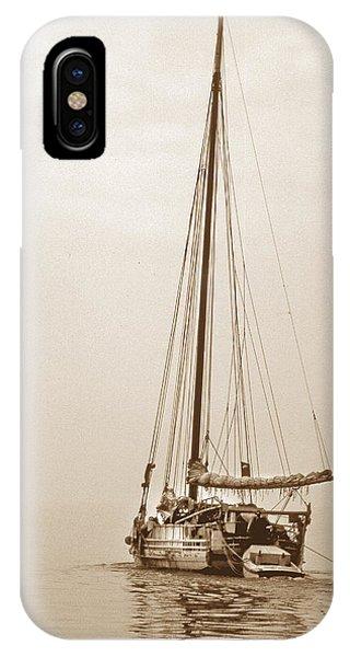 Skipjack iPhone Case - Sepia Minnie V by Skip Willits