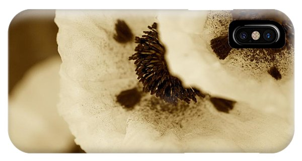 Sepia Poppies IPhone Case