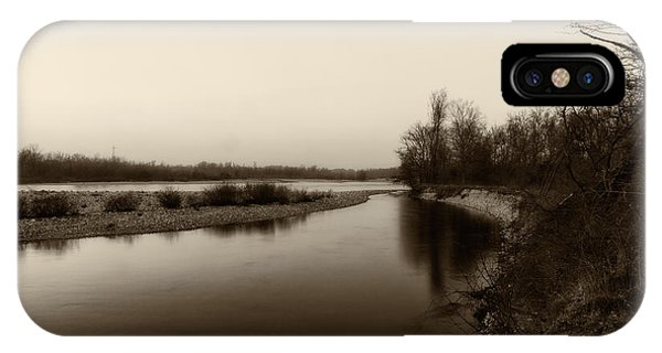 Sepia River IPhone Case