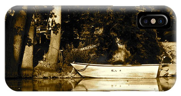 Sepia Rowboat IPhone Case
