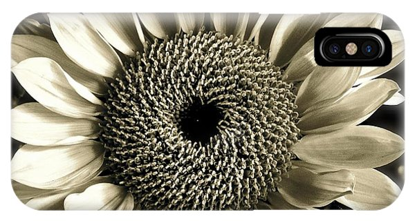 Sepia Sunflower IPhone Case