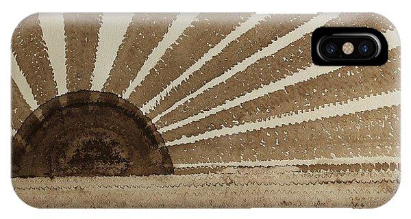 Sepia Sunset Original Painting IPhone Case