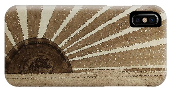 Sepia Sunset Original Painting IPhone Case