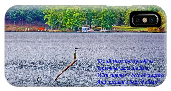 September On The Catawba River IPhone Case