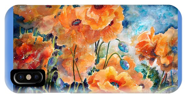 September Orange Poppies            IPhone Case