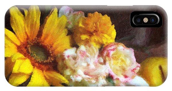 Sunflower iPhone Case - September Still Life by Lianne Schneider