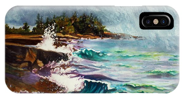 September Storm Lake Superior IPhone Case
