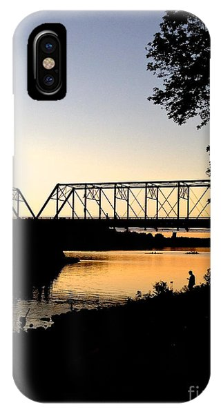 September Sunset On The River IPhone Case