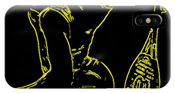 Venus Williams iPhone Case - Serena Glowing Catsuit by Brian Reaves