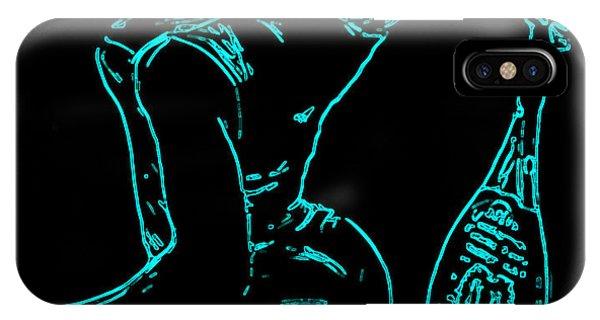 Venus Williams iPhone Case - Serena Glowing Catsuit II by Brian Reaves