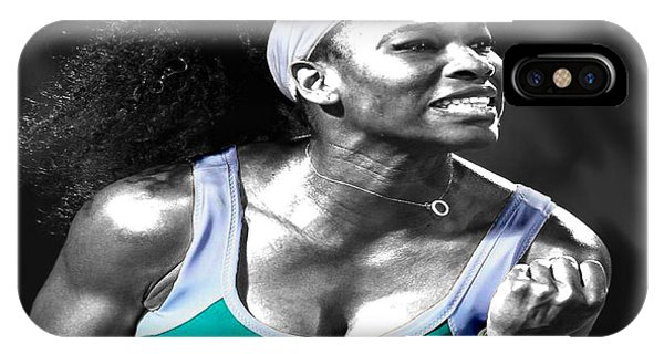 Venus Williams iPhone Case - Serena Williams Ace by Brian Reaves