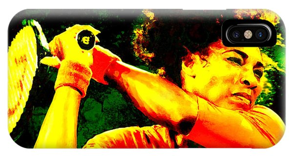 Venus Williams iPhone Case - Serena Williams In A Zone by Brian Reaves