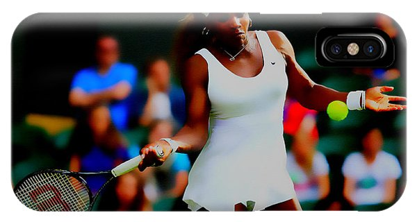 Venus Williams iPhone Case - Serena Williams Making It Look Easy by Brian Reaves