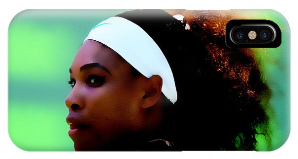 Venus Williams iPhone Case - Serena Williams Match Point by Brian Reaves