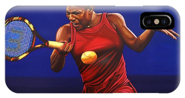 Open iPhone Case - Serena Williams Painting by Paul Meijering