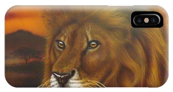Serengeti King IPhone Case