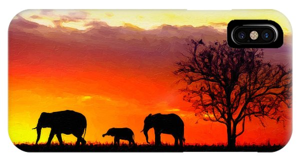 Serengeti Silhouette IPhone Case